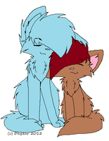 Cat Couple Collab by Katie-Kimii