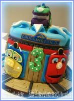 Chuggington Cake by gertygetsgangster