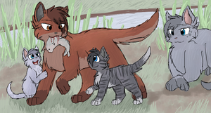 Oakheart and his Kits by CascadingSerenity