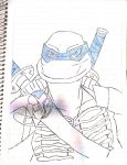 TMNT: Leonardo (2007/2014 combined style) by SpiderDetentionaire