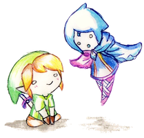 Chibi Link and Fi by Or003