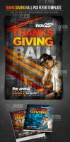 Thanksgiving Ball Party PSD Flyer Template by ImperialFlyers