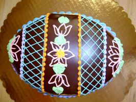choco ganache easter egg cake by The-EvIl-Plankton