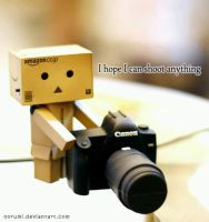 Danbo, I hope I can shoot anything by norumi
