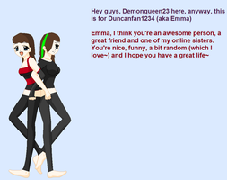 For emma's Contest by Demonqueen23