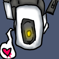 GLaDOS doodle by sillohette