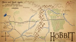 The Hobbit Map Wallpaper by Xiphos71