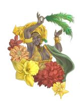 Goddess of Love, Oshun by Chantelligence