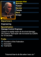Star Trek Online - Duty Officer Hillel by superhombre777
