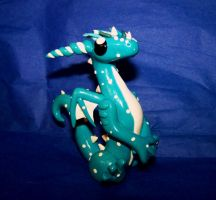 Polka Dot Winter Dragon by ByToothAndClaw