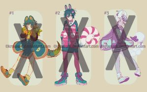 [Adoptables] Galaxbon 11+12+13 [Flat rate $80] by Krawark
