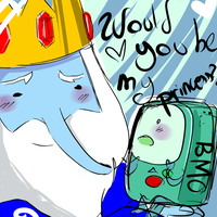 Ice king x BMO by Blind-Poisoned-Soul