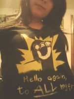 Hello again, to ALL my friends! SHIRT XD by Aru-HalfMoon
