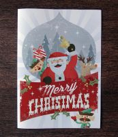 Free Christmas Card Invitation Template by Pixeden