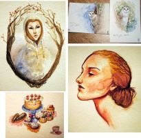 Watercolor Doodles by Reine-Haru