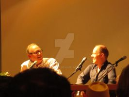 Q and A panel with Peter Davison and Dan Starkey by Deprezke