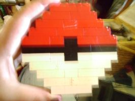 Lego Poke Ball :P by ArtsyLibrarian
