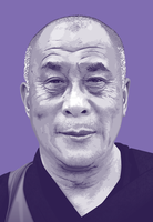 Dalai Lama by monsteroftheid