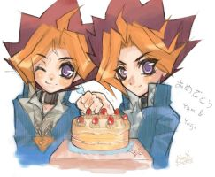HBD Yami and Yugi by Moondogla