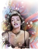 Marilyn in pastels by tanya-and-coffee