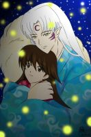 sesshomaru and rin firefly by Julia-59