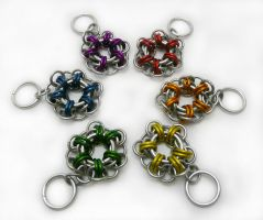 Flower Keychains by Gibbtall