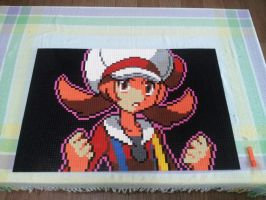 Pokemon HGSS VS Trainer Lyra (Lego Mosaic,Sprite) by skyin2020