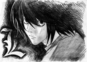 L lawliet by duncantje