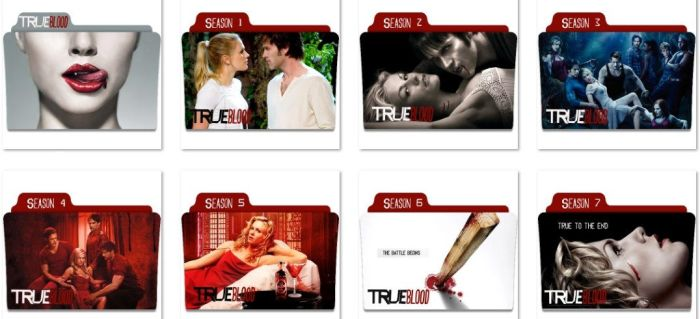 True Blood Folder Icons by nellanel