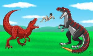 Dinosaurs And Their Human 1 by Goldy--Gry