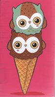 Owl Cream Cone by smushbox
