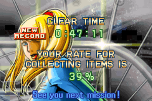 My new best clear time in Metroid Zero Mission by PKstarship