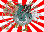Me and my Girlfriend on a Giant Evil Dodo by SommoMaestroDracorex
