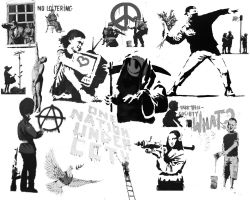 Banksy Collage by the-sky-is-the-limit