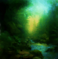 Forest Stream Painting by AStolenRelic
