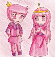 Prince Gumball and Princess Bubblegum by Cynder2012