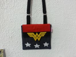 Handmade Superheroes Wonder Woman Side Bag by RbitencourtUSA