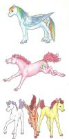 Colorful Equids by GosieXvelLipa