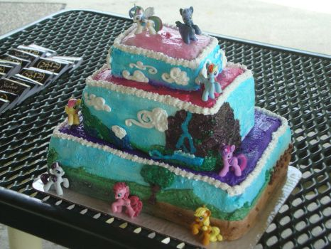 3 Tiered MLP Cake by GlompMonster
