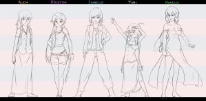 Female Lineup by ElleranS