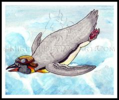 Flying Penguin by Mireth
