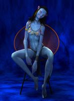 Neytiri in chair - requested pose by Fierox