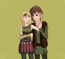 Arttrade Astrid and Hiccup by KAssi2007