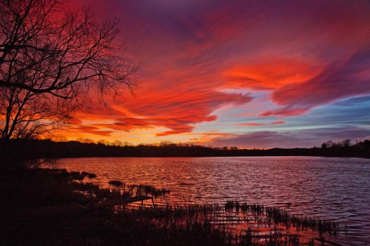 The sky is on fire by Jamie-MacArthur