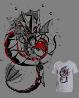 Gyarados Design T-shirt for Neokan by UmbreoNoctie