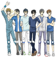 Dodgeball - Blue seme team by ASAMESHII