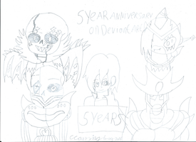 5 years anniversary on Deviantart by Evil-Black-Sparx-77