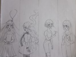 The Element Girls, Normal-Pen by der-Luxus
