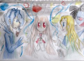 Ib, Mary and Garry by Pokeloid1