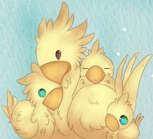 Chocobo family by Elhyx